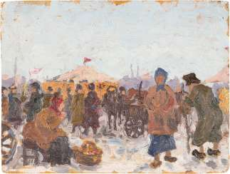 RUSSIAN PAINTER Active at the beginning of 20. Century Winter Market