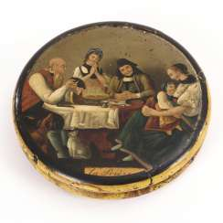 Lacquer box with a rural scene
