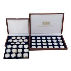 2 Sets Of Silver Commemorative Medals