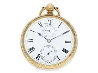 Pocket watch: rare English precision pocket watch with power reserve indicator, London 1871