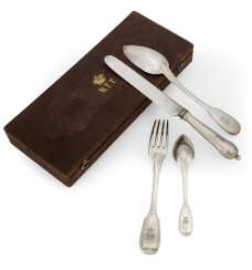 Travel Cutlery in a case with a Princely monogram