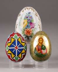 THREE EASTER EGGS Russia