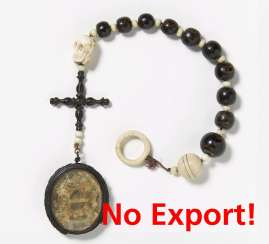 Rosary of ten made from rare black coral