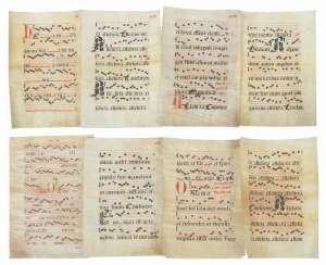 Collection of 8 sheets of music 16./17. Century