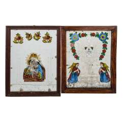 LOT OF 2 VOTIVE PICTURES,
