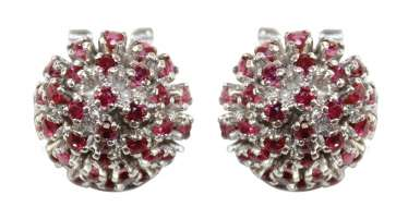 Ruby clip-on earrings