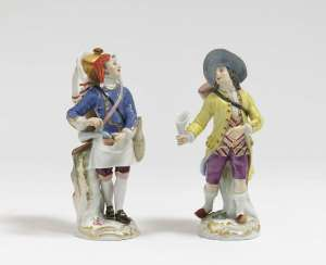 "Lot sellers and alcohol dealers from the series of the ""Parisian crier"" Meissen, after a model by JJ Kellers"