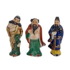 Three Immortal made of porcelain. CHINA, 20. Century.