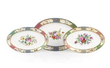A Set of Three Porcelain Platters from the Grand Duke Mikhail Pavlovich Service