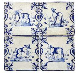 Tiled Image Of Delft