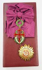 Portugal : order of the hl. James, for merits in science, literature and art, 4. Model (from 1910), Grand cross set, in a case.