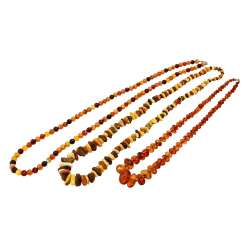 Lot of 3 amber chains