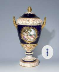 Large lidded vase, KPM BERLIN early 19th century