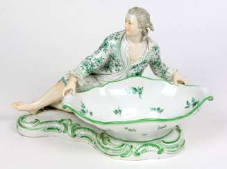 Meissen large figure of shell to 1860