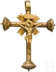 Golden cross pendant, South German, about 1520