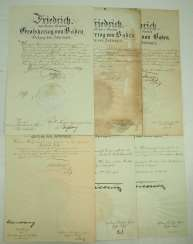 Baden, Friedrich I. and II. collection of autographs.