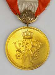 Prussia: General honour, in Gold, with jubilee number 50 - GOLD.