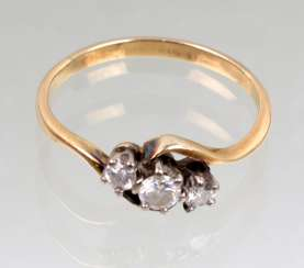 Brillant Ring - Gelbgold/WG 333