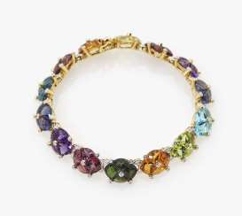 Cocktail bracelet with diamonds and multi-colored gemstones Germany