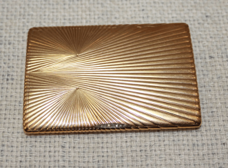 Cigarette case gold 56 PR insert diamonds