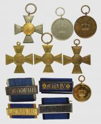 Lot of 11 service awards