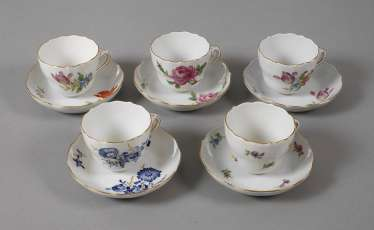 Meissen Collection Of Mocha Cups