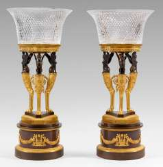 Rare Pair of courtly Empire centrepieces