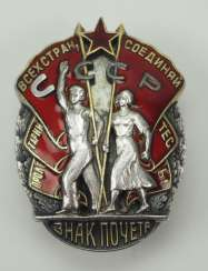 Soviet Union: Order Sign of Honor, 1st model, 4th type.