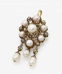 Pendant with pearls and diamonds, Germany or France, around 1860