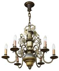 Chandeliers, six flames, and the Netherlands, around 1700