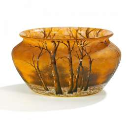 Large bowl with winter forest