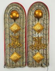 Bavaria: Pair of shoulder pieces for a captain in the 1st Bavarian Infantry Regiment.