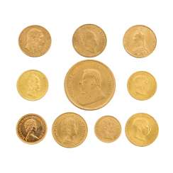 GOLD - 74,34 g fine. 10 Coins: 1 Ounce Krugerrand In 1984,