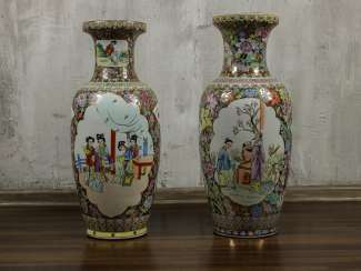 Antique floor vases