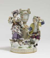 Love group with beaking pigeons Meissen, after a model by M.-V. Acier