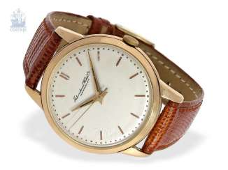 Watch: large red gold IWC men's watch with Central second, Schaffhausen, 1957