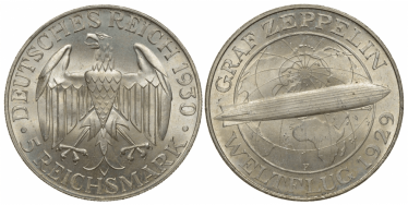 GERMANY 5 MARKS 1930 E