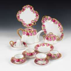 14 pieces, porcelain with rose decoration, ROSE
