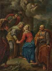 Visitation Of The Virgin Mary. South German or Austrian 18. Century