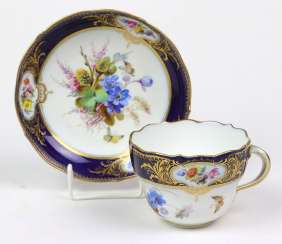 Meissen Coffee Set Is In Cobalt Edge