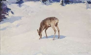 KOLESNIKOV, STEPAN (1879-1955) A Doe , signed.