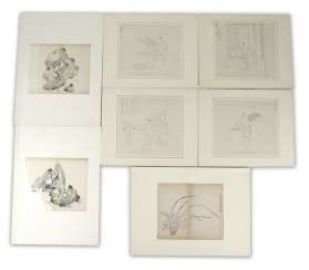 Group of seven prints and drawings by, among others, taught stones