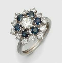 A Representative Of Sapphire-Diamond Ring