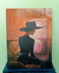 "Oil painting ""A young lady in a hat"" 30x40 cm. 2020 / Oil painting ""A young lady in a hat"""