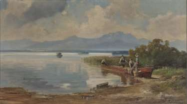 Willy Moralt - fisherman on the banks of the Chiemsee