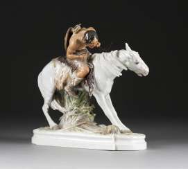 ERICH HÖSEL, in 1869, Anna Berg - 1953 Meissen HUN, RIDING