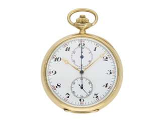 Pocket watch: high-quality crown-pusher Chronograph, the