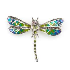 Pendant/brooch dragonfly with Fensterema