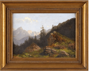 Western Europe, late XIX century, oil on cardboard