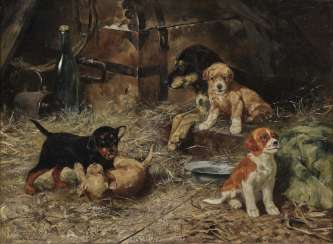 Josef Schmitzberger - female dog with four puppies
